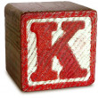 Wooden Block Letter K — Stock Photo