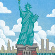 Illustration of Statue of Liberty — 图库照片