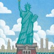 Illustration of Statue of Liberty — Stock Photo