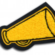 School Sports Cheerleader Patch - Megaphone — Stock Photo