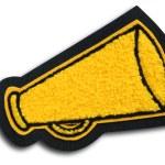 School Sports Cheerleader Patch - Megaphone — Stock Photo #29375109