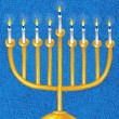 Illustration of Menorah — Stock Photo