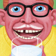 Illustration of Man Drinking Milk — ストック写真