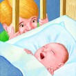 Illustration of New Baby Brother — Stock Photo