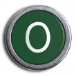 Photograph of Old Typewriter Key Letter O — Stock Photo