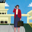 Illustration of Busy Woman — Stock Photo