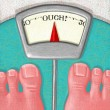 Illustration of Overweight Scale — Stock Photo