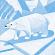 Illustration of Polar Bear — 图库照片