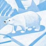 illustration av isbjörn — Stockfoto