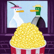 Illustration of Popcorn — Stock Photo