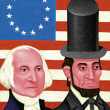 Illustration of Presidents Day — Stock Photo