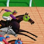 Illustration of Race Horses — Stock Photo