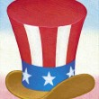 Illustration of Uncle Sam Hat — Stock Photo