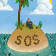 Stock Photo: Illustration of SOS