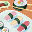 Illustration of Sushi — Stock Photo