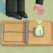 Illustration of Money Trap — Stock Photo