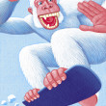 Постер, плакат: Yeti Snowboarding