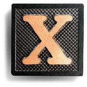 Photograph of Game Tile Letter X — Stock Photo