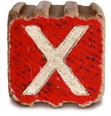 Photograph of Red Wooden Block Letter X — Стоковое фото