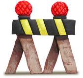 3D Sculpture of Traffic Barrier — Stock Photo