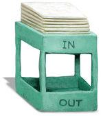 3D Sculpture of Inbox — Stock Photo