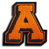 Fotografia della lettera di scuola sport - nero e arancione un — Foto Stock