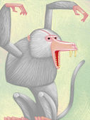Illustration of Baboon — Stock Photo