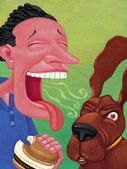 Illustration of Bad Breath — Stock Photo