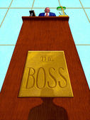 Illustration of Boss — Foto de Stock
