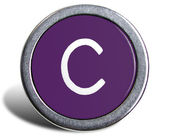 Photograph of Old Typewriter Key Letter C — Stock Photo