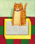 Illustration of Cat Box — Stock Photo