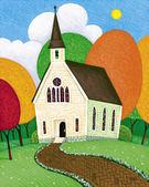Illustration of Church — Stock Photo
