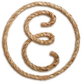 Photograph of Rope Letter E — Stock Photo