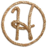 Photograph of Rope Letter H — Stock Photo