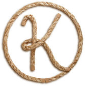 Photograph of Rope Letter K — Stock Photo