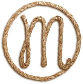 Photograph of Rope Letter M — Stock Photo