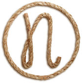Photograph of Rope Letter N — Stock Photo