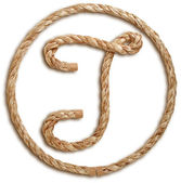 Photograph of Rope Letter T — Stock Photo