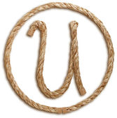 Photograph of Rope Letter U — Stock Photo