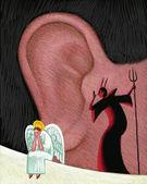 иллюстрация совести — Стоковое фото