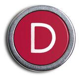 Photograph of Old Typewriter Key Letter D — Stock Photo