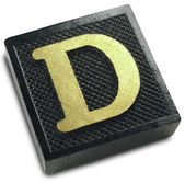 Photograph of Game Tile Letter D — Stock Photo