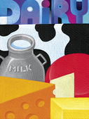 Illustration of Dairy — Foto de Stock