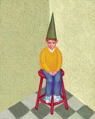 Illustration of Dunce — Stock Photo