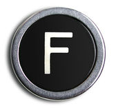 Photograph of Old Typewriter Key Letter F — Stock Photo