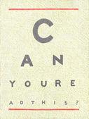 Illustration of Eyechart — Stock Photo