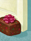 Illustration of Fruitcake — Stock Photo