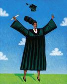Illustration of Graduate — Stock Photo