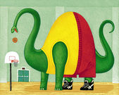 Illustration of Hoops — Stock Photo