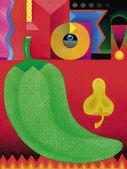 Illustration of Hot Pepper — Stock Photo